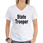 State Trooper Women's V-Neck T-Shirt