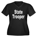 State Trooper Women's Plus Size V-Neck Dark T-Shir