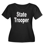 State Trooper Women's Plus Size Scoop Neck Dark T-