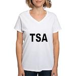 TSA Transportation Security A Women's V-Neck T-Shi