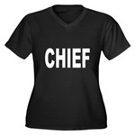 Chief Women's Plus Size V-Neck Dark T-Shirt