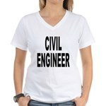 Civil Engineer Women's V-Neck T-Shirt
