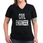 Civil Engineer Women's V-Neck Dark T-Shirt