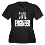 Civil Engineer Women's Plus Size V-Neck Dark T-Shi