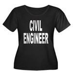 Civil Engineer Women's Plus Size Scoop Neck Dark T