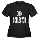 Coin Collector Women's Plus Size V-Neck Dark T-Shi