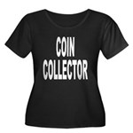 Coin Collector Women's Plus Size Scoop Neck Dark T