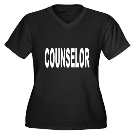 Counselor Women's Plus Size V-Neck Dark T-Shirt