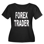 Forex Trader Women's Plus Size Scoop Neck Dark T-S