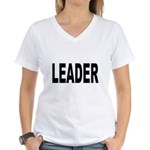 Leader Women's V-Neck T-Shirt