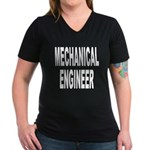 Mechanical Engineer Women's V-Neck Dark T-Shirt