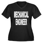 Mechanical Engineer Women's Plus Size V-Neck Dark