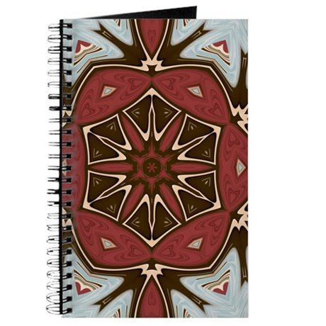 Chic Red, Blue, & Brown Journal