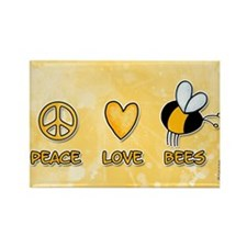 peace love bees Rectangle Magnet (100 pack)