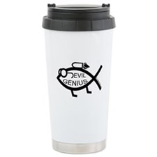 Evil Genius fish Ceramic Travel Mug
