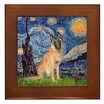Starry/Belgian Malanois Framed Tile