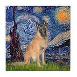 Starry/Belgian Malanois Tile Coaster
