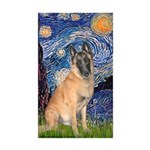 Starry/Belgian Malanois Sticker (Rectangle 50 pk)