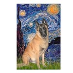 Starry/Belgian Malanois Postcards (Package of 8)