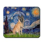 Starry/Belgian Malanois Mousepad