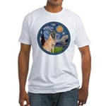 Starry/Belgian Malanois Fitted T-Shirt