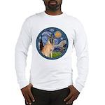 Starry/Belgian Malanois Long Sleeve T-Shirt