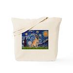 Starry/Belgian Malanois Tote Bag