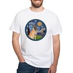 Starry/Belgian Malanois White T-Shirt