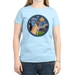 Starry/Belgian Malanois Women's Light T-Shirt
