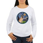 Starry/Belgian Malanois Women's Long Sleeve T-Shir