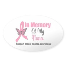 In Memory of My Nana Oval Decal