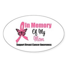 In Memory of My Mom Oval Decal