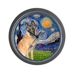 Starry/Belgian Malanois Wall Clock