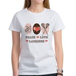 Peace Love Lacrosse Women's T-Shirt