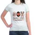 Peace Love Lacrosse Jr. Ringer T-Shirt