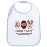 Peace Love Lacrosse Bib