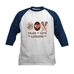 Peace Love Lacrosse Kids Baseball Jersey