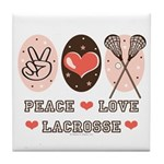 Peace Love Lacrosse Tile Coaster