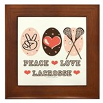Peace Love Lacrosse Framed Tile