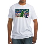 XmasMagic/TibetanTerriers Fitted T-Shirt