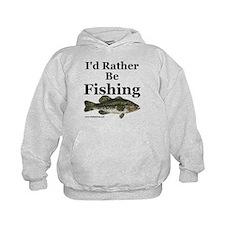 "Kids ""Rather Be Fishing"" Bass Hoodie"