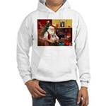 Santa/Tibetan Spaniel Hooded Sweatshirt