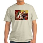 Santa/Tibetan Spaniel Light T-Shirt