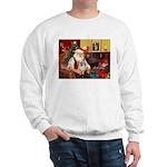 Santa/Tibetan Spaniel Sweatshirt
