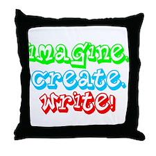 Imagine Create Write Throw Pillow