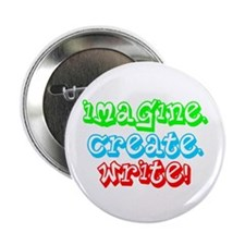 "Imagine Create Write 2.25"" Button (100 pack)"