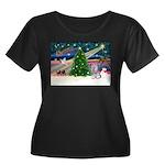 Xmas Magic / Skye Terri Women's Plus Size Scoop Ne