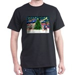 Xmas Magic & Silky Terrier Dark T-Shirt