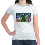 Xmas Magic & Silky Terrier Jr. Ringer T-Shirt