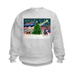 Xmas Magic & Silky Terrier Kids Sweatshirt